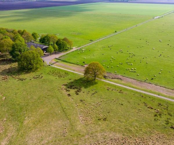 Bedrijfsfotografie Hijkerveld met de drone in beeld gebracht