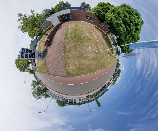 Bedrijfsfotografie Little Planet 360-fotografie Webba Emmen