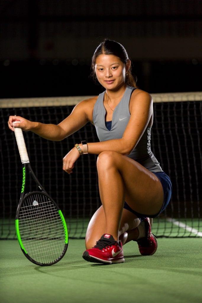 Fotoshoot Portret Arianna Hartono tennis