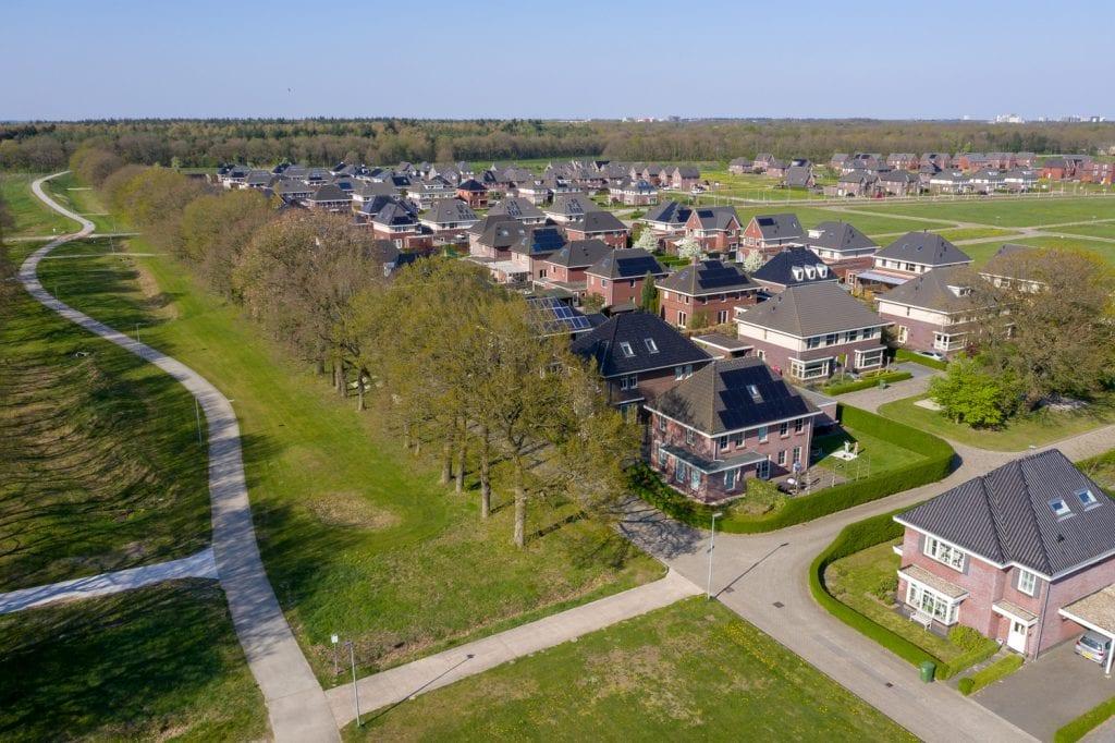 zakelijke fotografie Gemeente Emmen woningbouw Delflanden Drone