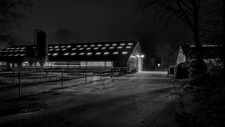 Fotografie bij weinig licht op de boerderij in Noordsleen