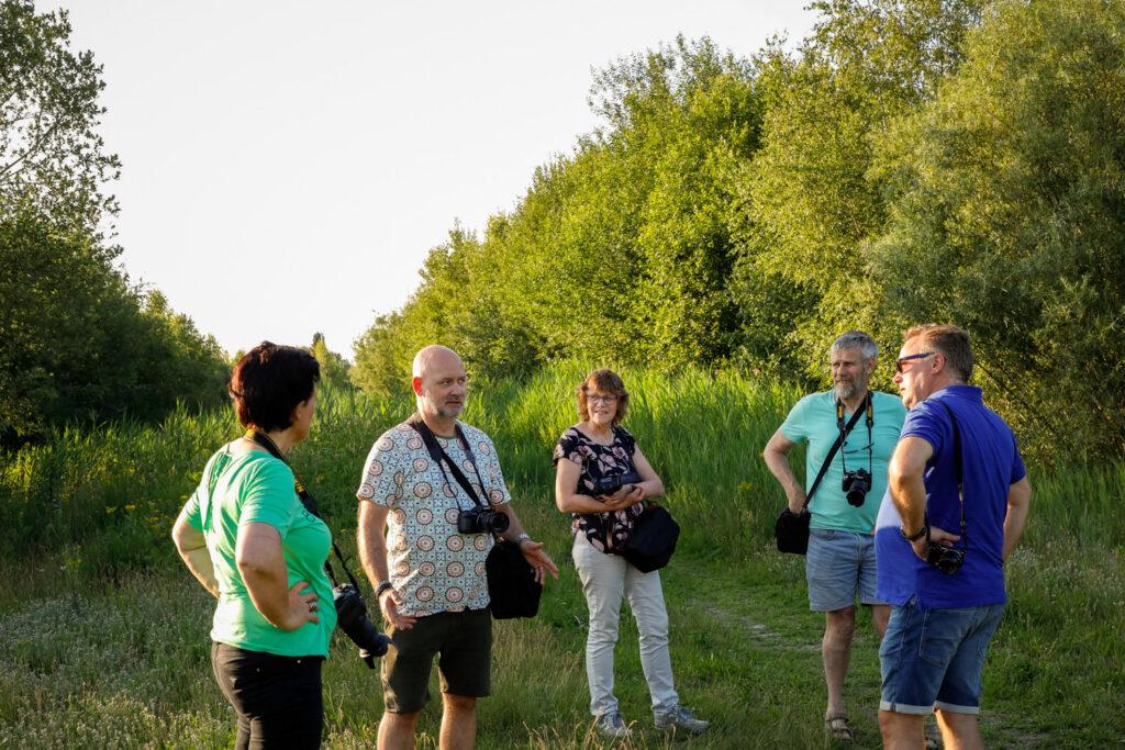 De groep cursisten bij de Grote Rietplas in Emmen