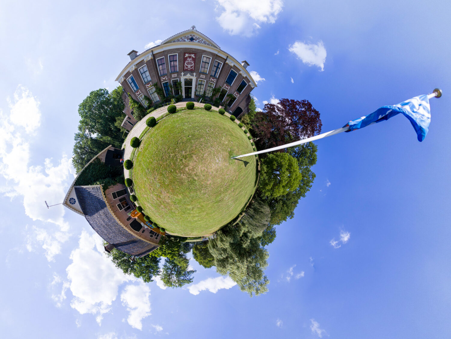 Little Planet foto van havezate De Oldengaerde Dwingeloo
